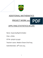 Additional Mathematics Project Work 2014