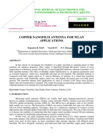 Copper Nanofilm Antenna for Wlan Applications