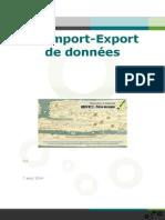 Import Export de données