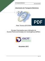 CTe Nota Tecnica 2012 004