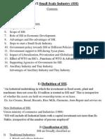 UNIT-VI Small Scale Industry (SSI)