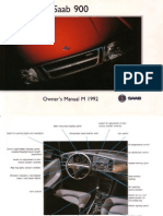 SAAB 900 Owner's Manual [OCR]