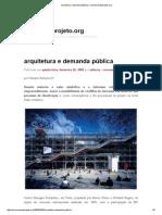 Arquitetura e Demanda Pública