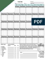Allergy Tracking Calendar