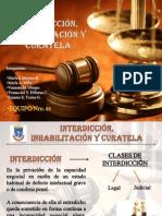 Interdiccion, Inhabilitacion y Curatela.