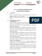 ANALISIS DE PROBETAS PARA CONDUCTIVIDAD TERMICA