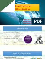 Glocalization vs Globalization