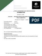 ELEC4160 Exam 2009_Complete