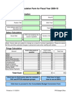 Employee Cost Form