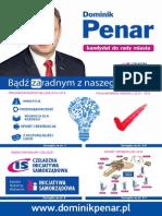 Dominik Penar-Wybory 2014 - Sprawozdanie z pracy oraz Program wyborczy