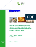 Energy Recovery From the Renewable Content of Waste