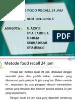 Metode Food Recall 24 Jam