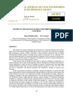 Studies on Metakaolin Based Coir Fibre Reinforced Concrete