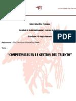 COMPETENCIAS EN LA GESTION DEL TALENTO