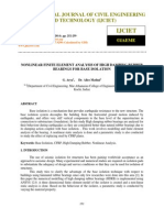 Nonlinear Finite Element Analysis of High Damping Rubber Bearings for Base Isolation