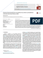 Chemical functionalization of graphene by carbene cycloaddition:A density functional theory study