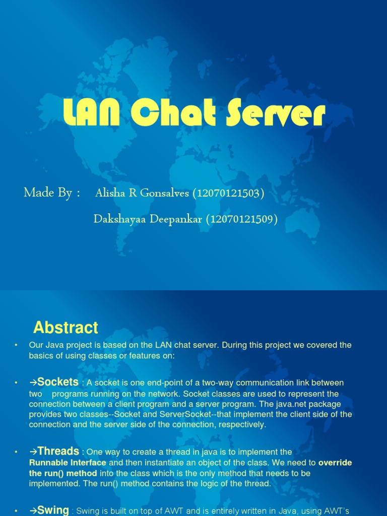 Java Mini Project Lan Chat   Port (Computer Networking