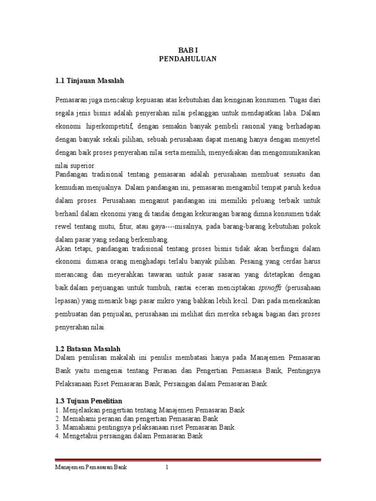 Contoh Identifikasi Masalah Dalam Skripsi Manajemen Pemasaran لم