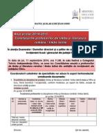 Anunt Precizari Consfatuiri Romana 2014-2015