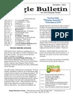 Beagle Elementary School Newsletter 11-07-14