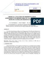 Critical Analysis of Sedimentation Assessment of Reservoirs of Nagpur Region Done by Satellite Remote Sensing