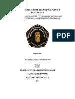 Tugas Resume Jurnal Teknologi Pupuk