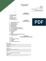 Structura-tip a Fisei Postului