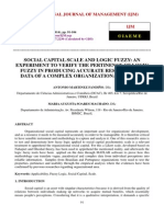 Social Capital Scale and Logic Fuzzy an Experiment to Verify the Pertinence of Logic Fuzzy in Producing Accurate Results