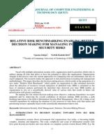 Relative Risk Benchmarking Enabling Better Decision Making for Managing Information Security Risks
