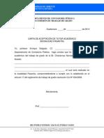 Carta de Aceptación de Tutor Académico