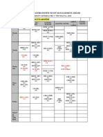 Time Table 2nd Year - Copy