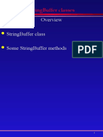 StringBuffer class in Java