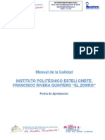 Manual de Calidad IPE Estelidfg Rev. 0
