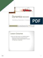 Dynamics Week 1b