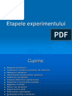 Etapele experimentului