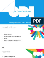 Introduction to Open Data Certificates