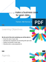 How to make a business case for open data