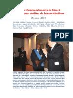 Les Dix Commandements de Gérard Latortue pour réaliser de bonnes élections