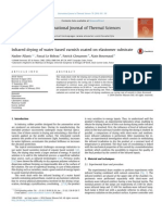 Infrared Drying of Water Based Varnish Coated on Elastomer Substrate