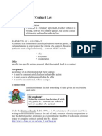 Basics of Contract Law