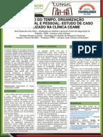 Gestão Do Tempo, Organização Profissional e Pessoal Estudo de Caso Realizado Na Clínica Ceame