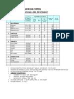 Dehumidifier Input