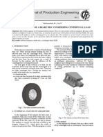 STRESS ANALYSIS OF A BRAKE DISC CONSIDERING CENTRIFUGAL LOAD