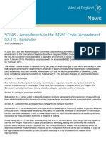 West of England - SOLAS IMSBC - Amendment 02-13