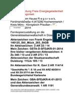 GSTA-Düsseldorf - An ihren Taten sollt ihr sie erkennen! - 09. November 2014