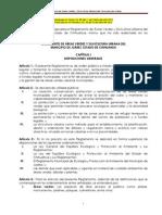 Reglamento de Areas Verdes