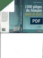 1300 Pieges Du Francais Parle Et Ecrit