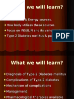 Metabolism, Insulin and DM
