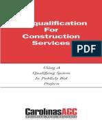PreQual of Contractors