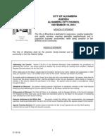 Alhambra City Council agenda Nov 10
